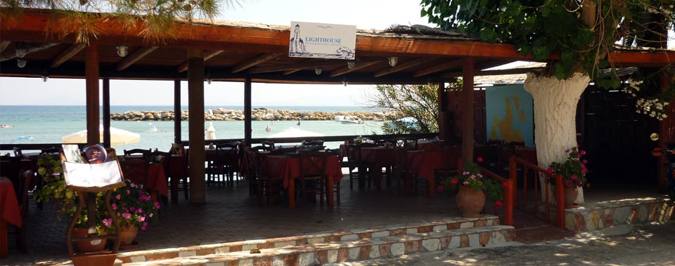 Enjoy your meal with a spectacular sea view from our restaurant seaside deck